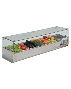 This is an image of a Complete Polar REFRIGERATED Counter Top PrepServery - 1400mm for G623CN267