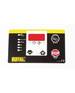 This is an image of a Control Panel Adhesive Label Buffalo Vac Pack Machine for CC771