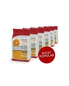 This is an image of a JM POSNER FINEST BELGIAN STYLE WAFFLE MIX - 6 X 2.3KG BAGS
