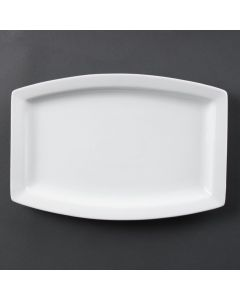 "This is an image of a Olympia Whiteware Rectangular Plate - 320mm 12 34"" (Box 6)"