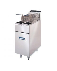 This is an image of a Imperial Twin Tank Twin Basket Fryer Nat (Direct)