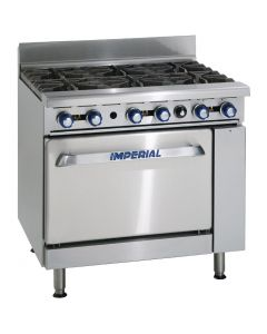This is an image of a Imperial 6 Burner Natural Gas Oven Range IR6-N