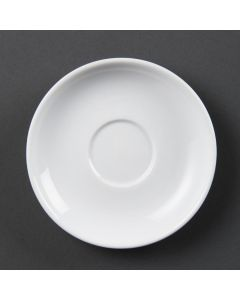 This is an image of a Olympia Whiteware Espresso Saucer - 3oz (Box 12)