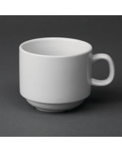 This is an image of a Olympia Whiteware Teacup Stackable - 7oz (Box 12)