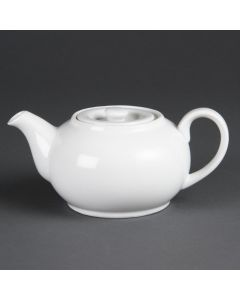 This is an image of a Olympia Whiteware Teapot - 2cup 15oz (Box 4)