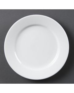 "This is an image of a Olympia Whiteware Wide Rimmed Plate - 165mm 6 12"" (Box 12)"