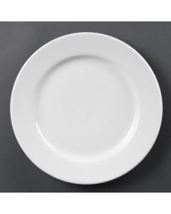 "This is an image of a Olympia Whiteware Wide Rimmed Plate - 310mm 12"" (Box 6)"