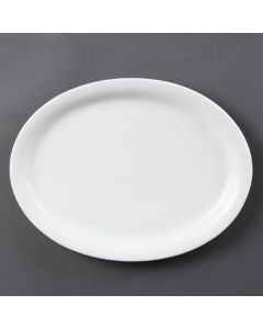 "This is an image of a Olympia Whiteware Oval PlatePlatter - 295mm 11 12"" (Box 6)"