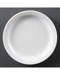 "This is an image of a Olympia Whiteware Narrow Rimmed Plate - 15cm 6"" (Box 12)"
