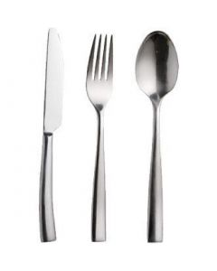 This is an image of a Olympia Torino Cutlery Sample Set (Table Knife Table Fork Dessert Spoon)