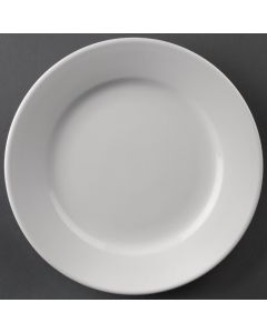 """This is an image of a Athena Hotelware Wide Rimmed Plate - 203mm 8"""" (Box 12)"""