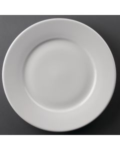 """This is an image of a Athena Hotelware Wide Rimmed Plate - 254mm 10"""" (Box 12)"""