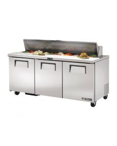 This is an image of a True Salad Prep Counter 3 Door 538Ltr TSSU-72-18