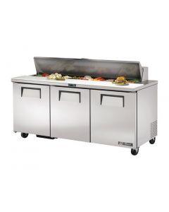 This is an image of a True Salad Prep Counter 3 Door 538Ltr TSSU-72-18