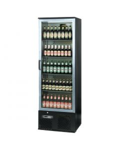 This is an image of a Infrico Full Height Back Bar Chiller Single Door Charcoal with Alu Door (Direct)