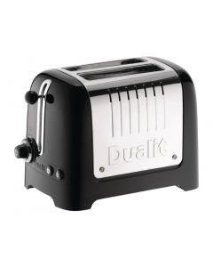 This is an image of a Dualit Lite Toaster 2 Slice Black (No Commercial Warranty)