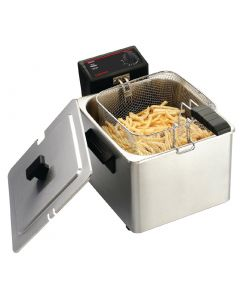 This is an image of a Caterlite Light Duty Single Tank Countertop Fryer 8Ltr
