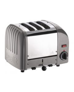 This is an image of a Dualit 3 Slice Vario Toaster Metallic Silver 30081