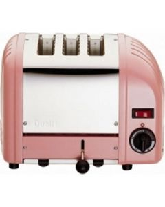 This is an image of a Dualit 3 Slice Vario Toaster Petal Pink 30083