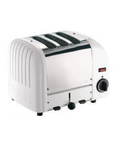This is an image of a Dualit 3 Slice Vario Toaster White 30087