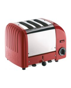 This is an image of a Dualit 3 Slice Vario Toaster Red (B2B)