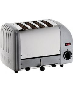 This is an image of a Dualit 4 Slice Vario Toaster Metallic Silver