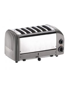 This is an image of a Dualit 6 Slice Vario Toaster Metallic Silver 60147