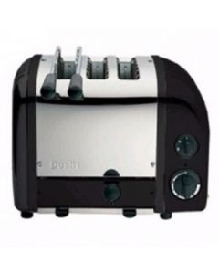 This is an image of a Dualit 2 + 1 Combi Vario 3 Slice Toaster Black 31205