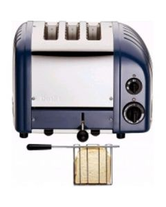 This is an image of a Dualit 2 + 1 Combi Vario 3 Slice Toaster Lavender Blue 31207