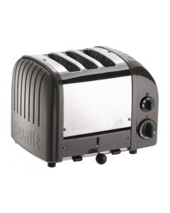 This is an image of a Dualit 2 + 1 Combi Vario 3 Slice Toaster Metallic Charcoal 31209