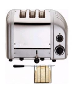 This is an image of a Dualit 2+1 Combi Vario Toaster Metallic Silver (B2B)