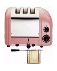 This is an image of a Dualit 2 + 1 Combi Vario 3 Slice Toaster Petal Pink 31212