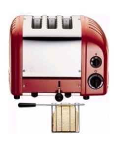 This is an image of a Dualit 2+1 Combi Vario Toaster Red (B2B)