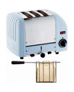 This is an image of a Dualit 2 + 1 Combi Vario 3 Slice Toaster Glacier Blue 31265