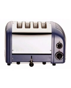 This is an image of a Dualit 2 x 2 Combi Vario 4 Slice Toaster Lavender Blue 42168