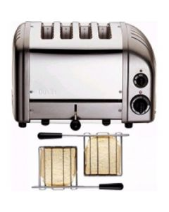 This is an image of a Dualit 2x2 Combi Vario Toaster Metallic Charcoal