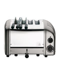 This is an image of a Dualit 2x2 Combi Vario Toaster Metallic Silver