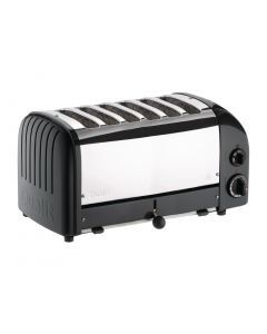This is an image of a Dualit Bun Toaster 6 Bun Black 61020