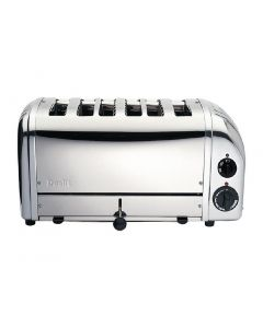 This is an image of a Dualit Bun Toaster 6 Bun Metallic Silver 61028