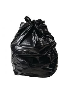 This is an image of a Jantex Extra Large Heavy Duty Bin Bags Black 120 Litre Pack of 100