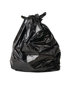 This is an image of a Jantex Large Biodegradable Bags 80 Litre Black Pack of 200