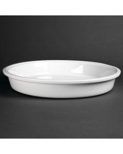 This is an image of a Olympia Whiteware Round Dish - 383x65mm 3700ml (Box 1)