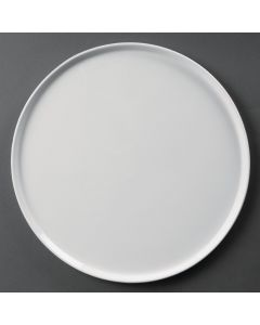 "This is an image of a Olympia Whiteware Pizza Plate Small Rim - 330mm 13"" (Box 4)"