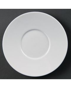 This is an image of a Olympia Whiteware Saucer for CD735 8oz Fine Cup (Box 12)