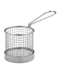 This is an image of a Presentation Basket with handle - 80dia x 80mm H
