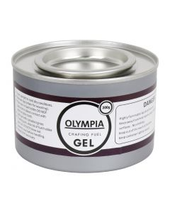 This is an image of a Olympia Chafing Gel Ethanol - 200g Tin (Pack 12)