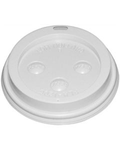 This is an image of a Fiesta Lid for Hot Cups White - 8oz (Box 1000)