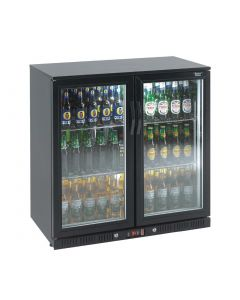 This is an image of a Lec Double Door Back Bar Cooler 180 Bottles