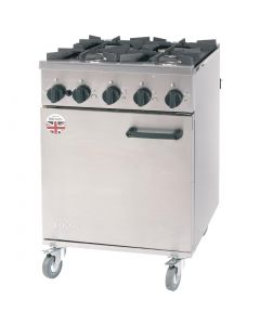 This is an image of a Burco Titan Natural Gas Oven Range RG60NG
