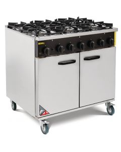 This is an image of a Buffalo 6 Burner Propane Gas Oven Range